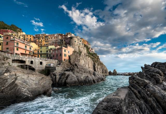Falling Tide - (Vernazza, Cinque Terre, Italy)