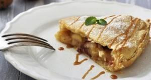 Карамел пита со јаболки ала крем-бруле