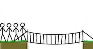 Остроумни ли сте? Како мажите ќе успеат да го поминат мостот за 17 минути?