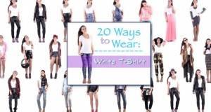 20 начини како да ја носите обичната бела маица