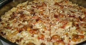 Потпечени макарони со печурки, кашкавал и павлака
