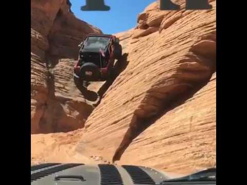 Седнал во џип, а потоа тргнал да се качува низ стрмна карпа. Вакво нешто немате видено!