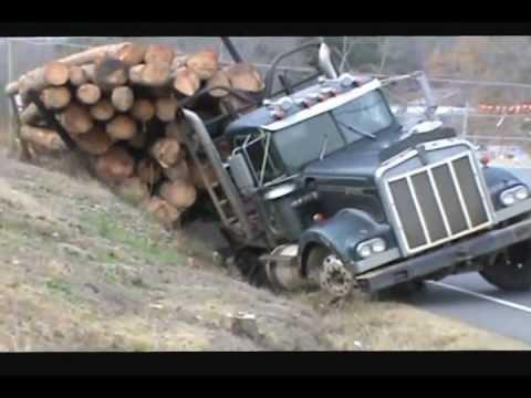 Камионџија превртил шлепер полн со трупци. Неговиот следен потег остава без текст!