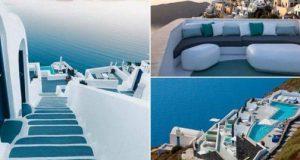 Најубавиот бел хотел на Санторини