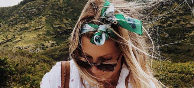 Носете ја омилената свилена марама врзана во косата: Еве како!