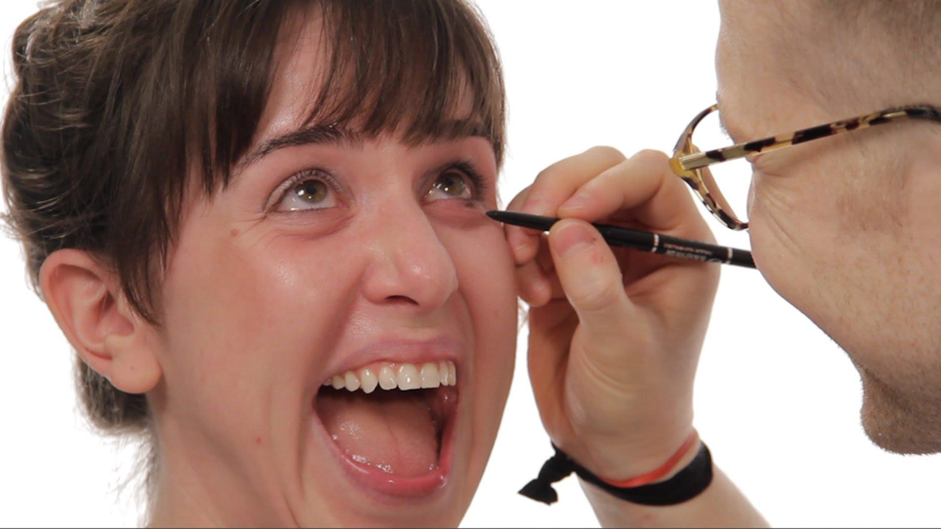 Еве зошто никогаш не смееш да му дадеш на дечкото да те шминка!:)