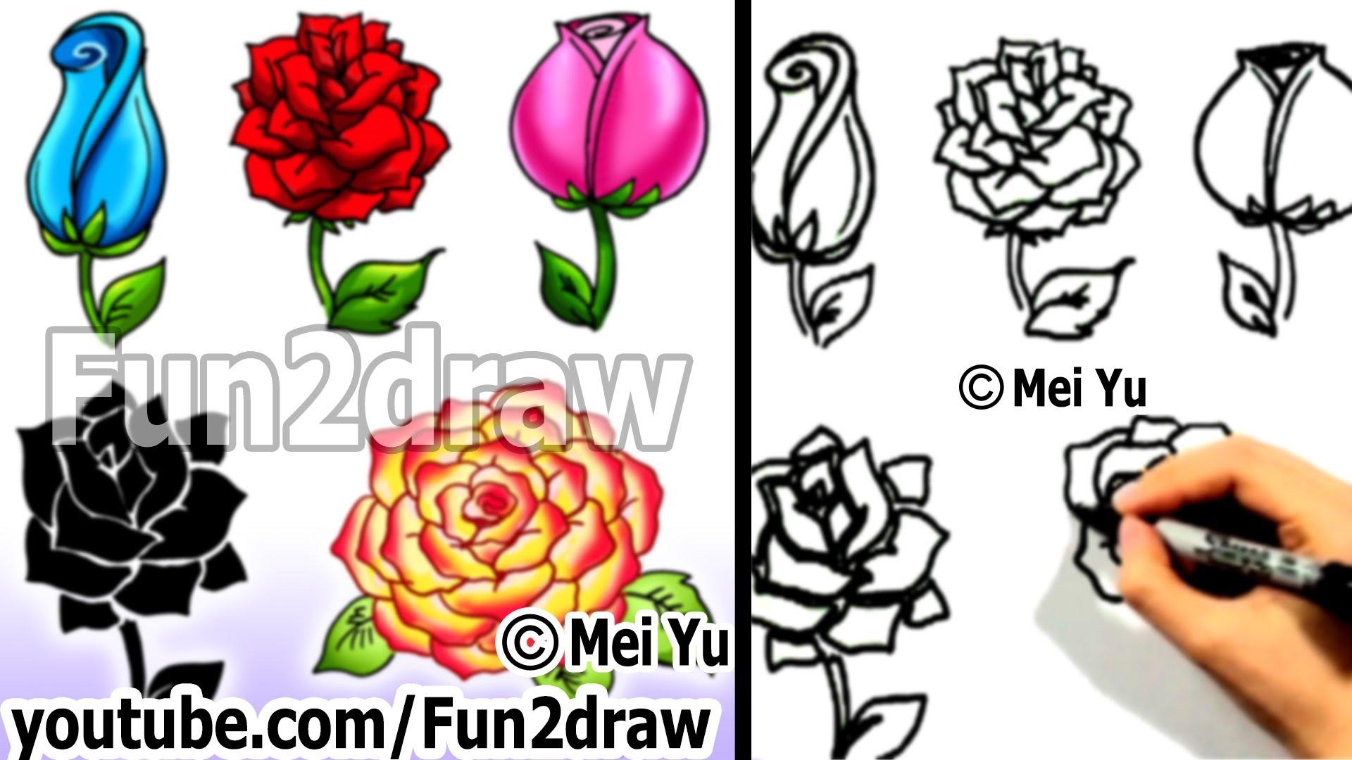 Како се црта роза? 5 начини за 4 минути