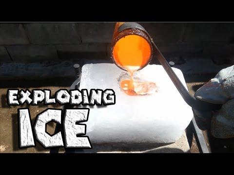 Ставил растопен бакар на парче мраз. Добро погледнете на 0:10 секунда!