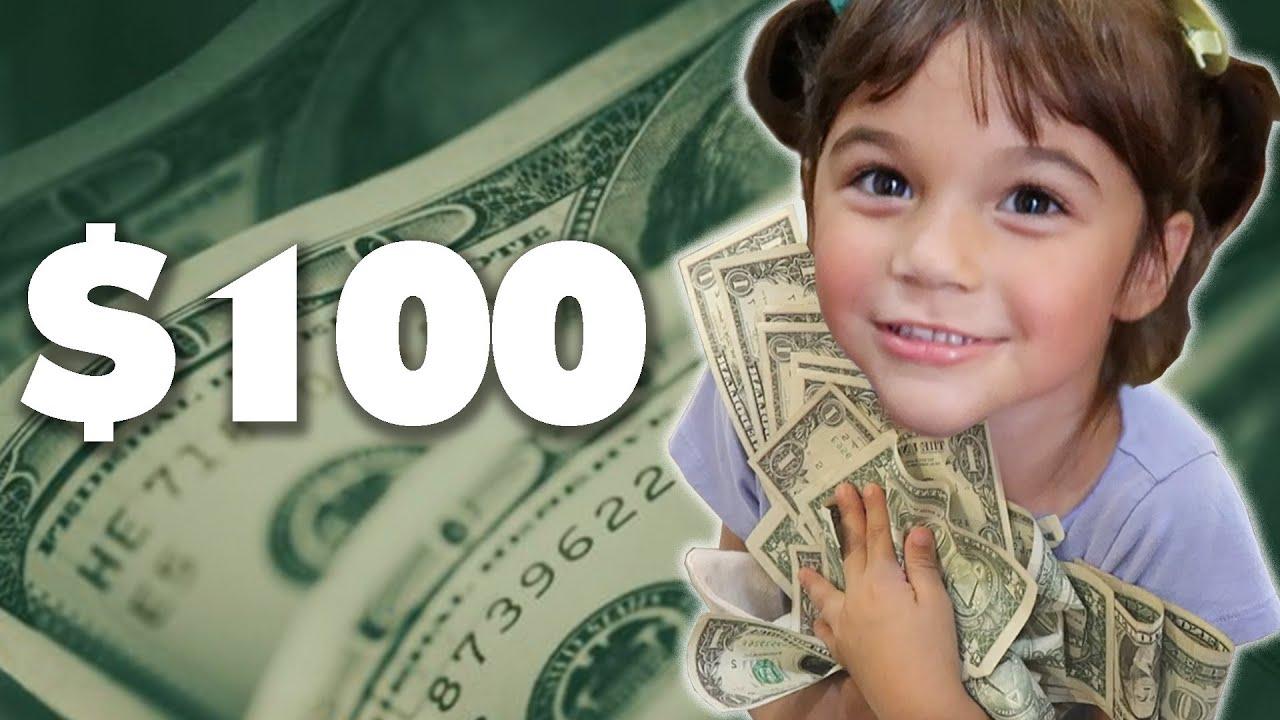 Што би направиле децата ако би им дале да потрошат 100 долари за еден час?