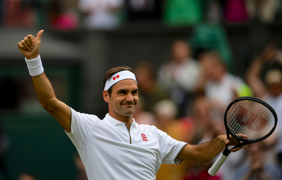 ROGER FEDERER (SUI)TENNIS - THE CHAMPIONSHIPS -  WIMBLEDON - ALL ENGLAND LAWN TENNIS AND CROQUET CLUB - ATP - WTA - ITF - WIMBLEDON - SW19 - LONDON - GREAT  BRITAIN - 2019