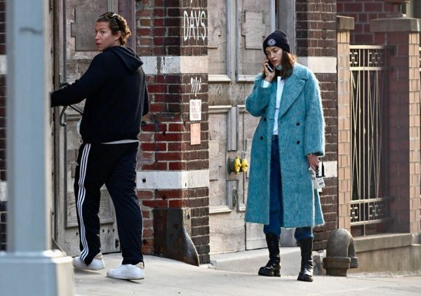 PREMIUM EXCLUSIVE: Irina Shayk is Spotted During the Coronavirus Quarantine Keeping Close with Vito Schnabel in New York City