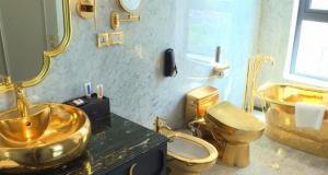 Единствена доза на луксуз: Првиот ЗЛАТЕН хотел во светот е отворен во Виетнам (ВИДЕО)