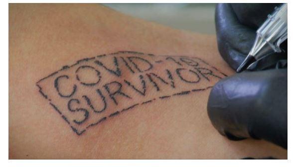 covid tattoo