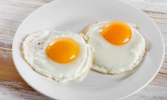 Two,Fried,Eggs,For,Healthy,Breakfast,.