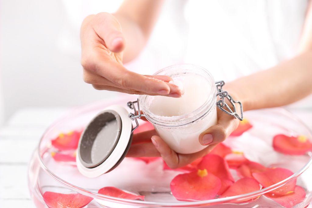 Manicure,,Hand,Peeling.,Jar,Of,Cosmetic,Preparation,Spa,&,Wellness